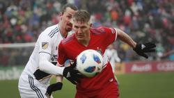 Zwei Stars der vergangenen MLS-Saison: Bastian Schweinsteiger (r.) und Zlatan Ibrahimovic