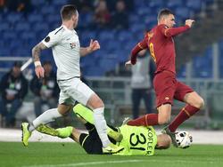 Edin Džeko schlug einmal für Roma zu