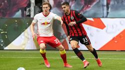 André Silva (r.) ist von Eintracht Frankfurt zu RB Leipzig gewechselt