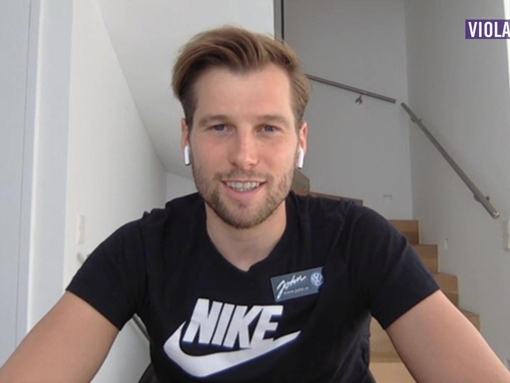 Austria-Kapitän Alex Grünwald hält sich zu Hause fit