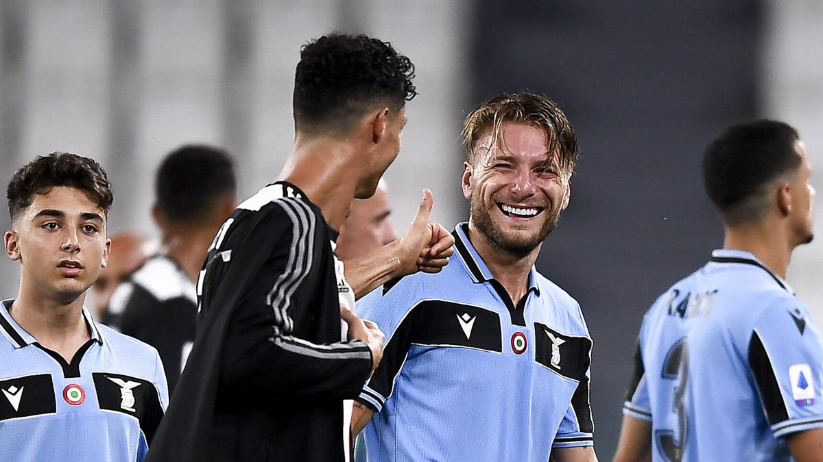 Cristiano Ronaldo und Ciro Immobile duellieren sich in Italien