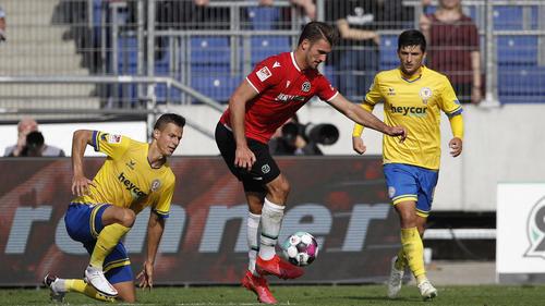 Hendrik Weydandt traf für Hannover 96 gegen Eintracht Braunschweig