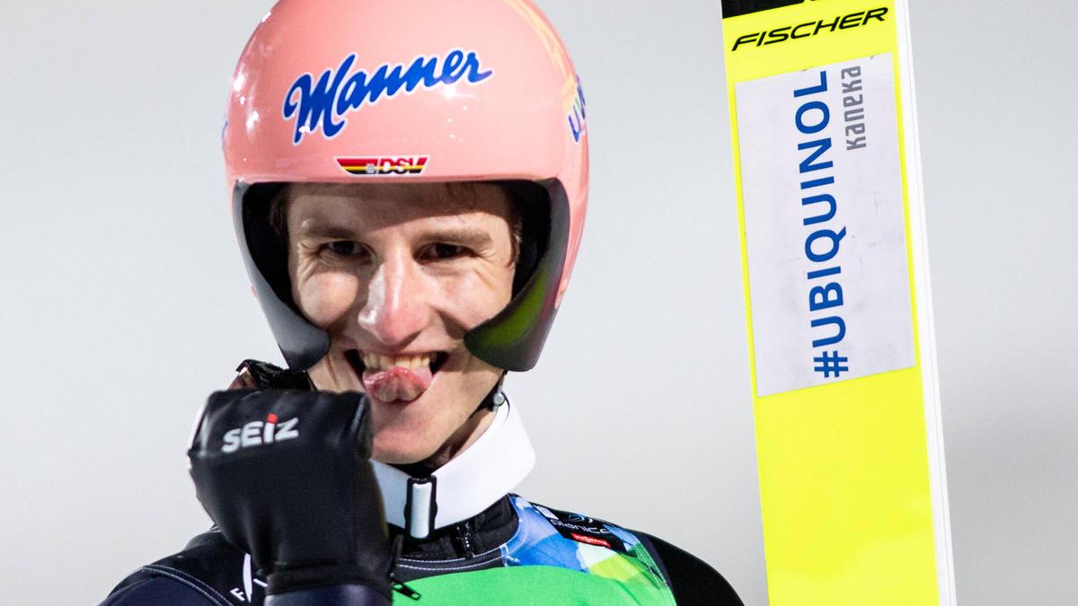 Chance auf Gold: Karl Geiger liegt nach dem ersten Tag in Planica vorne