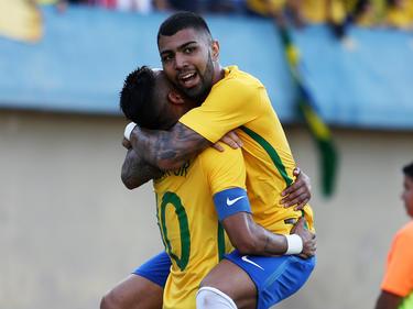 Gabriel Barbosa erzielte das erste Tor der Brasilianer im Turnier