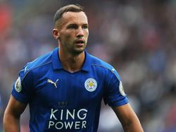 Danny Drinkwater is gefocust tijdens het competitieduel Leicester City - Arsenal (20-08-2016).