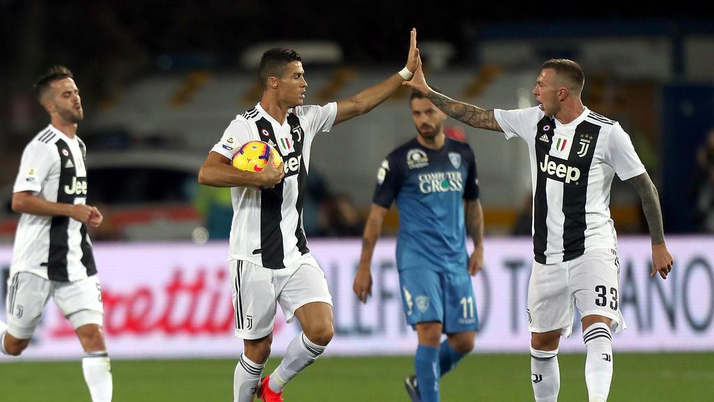 Mal wieder Mann des Tages: Cristiano Ronaldo (Mitte)