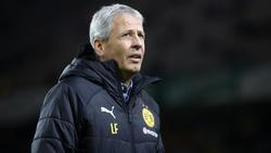BVB-Coach Lucien Favre musste die Pressekonferenz wegen des Alarms für kurze Zeit verlassen