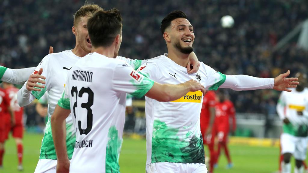 Doppelpacker Ramy Bensebaini war für Gladbach der Matchwinner im Spitzenspiel gegen die Bayern