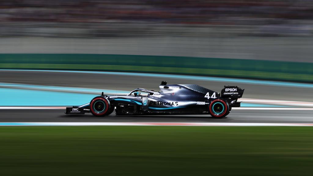 Lewis Hamilton gewann das Qualifying in Abu Dhabi