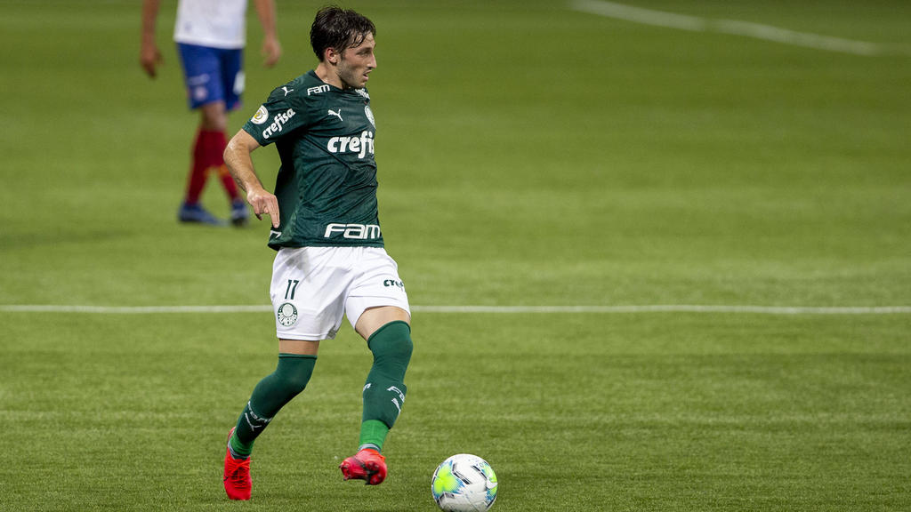 Matías Viña en su etapa en Palmeiras.
