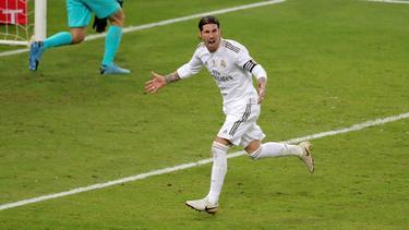 Ramos anotó el penalti definitivo en la Supercopa de España.