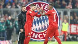 Lucas Hernández (M.) kommt beim FC Bayern nur selten zum Zug