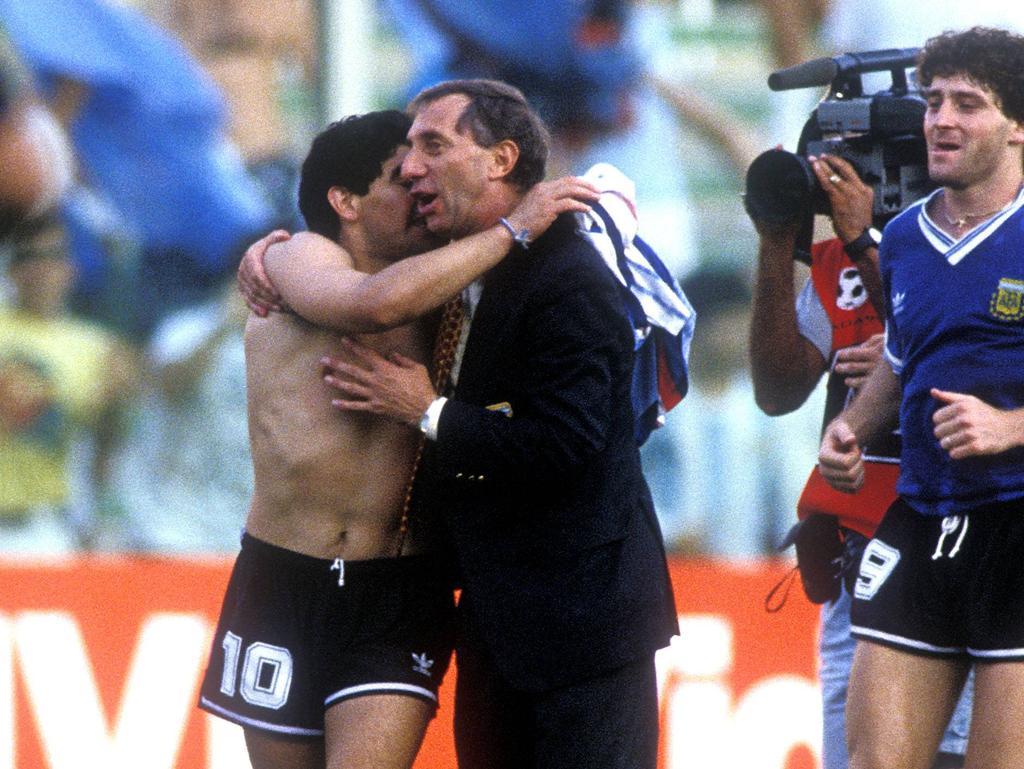 Carlos Bilardo und Diego Maradona hatten eine besonders enge Beziehung