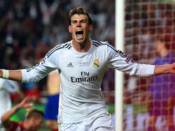 Gareth Bale festeggia il suo gol