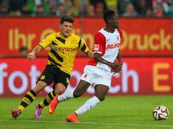 Baba en un partido de la Bundesliga ante el Dortmund. (Foto: Getty)