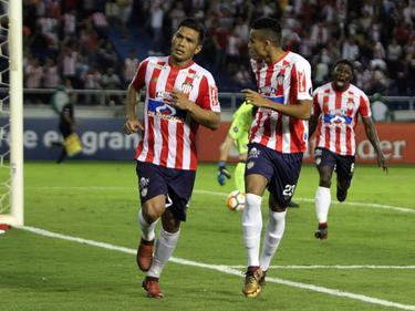 El mexicano Teo Gutiérrez marcó el 3-1 definitivo para el Atlético Junior. (Foto: Imago)