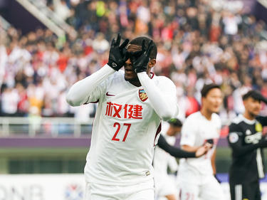 Anthony Modeste celebra un tanto con el conjunto chino. (Foto: Getty)