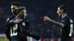Superstar Neymar (2. v. l.) erzielte einen Doppelpack