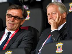 Willi Ruttensteiner (l.) und ÖFB-Präsident Leo Windtner