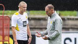 Alexander Zickler (r.) arbeitet jetzt unter anderem mit BVB-Superstar Erling Haaland zusammen