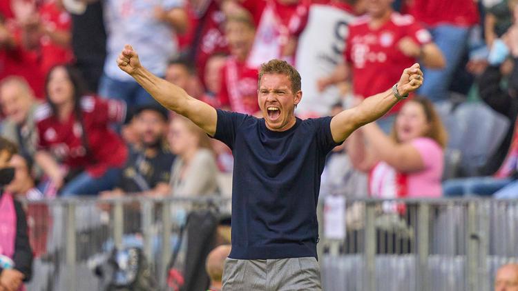 Julian Nagelsmann bejubelt einen der insgesamt 20 Bundesliga-Treffer des FC Bayern in dieser Saison