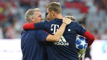 Spielten gemeinsam beim FC Bayern und im DFB-Team: Bastian Schweinsteiger (l.) und Manuel Neuer
