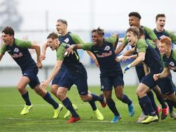 """Nach dem umjubelten Einzug ins Achtelfinale, geht es für die """"Jungbullen"""" nun gegen Derby County"""