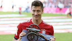 Robert Lewandowski vom FC Bayern erhält Torjägerkanone erst nach dem Spiel