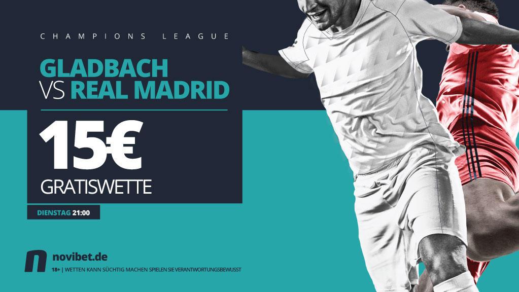 Gladbach gegen Real mit 15€ Gratiswette