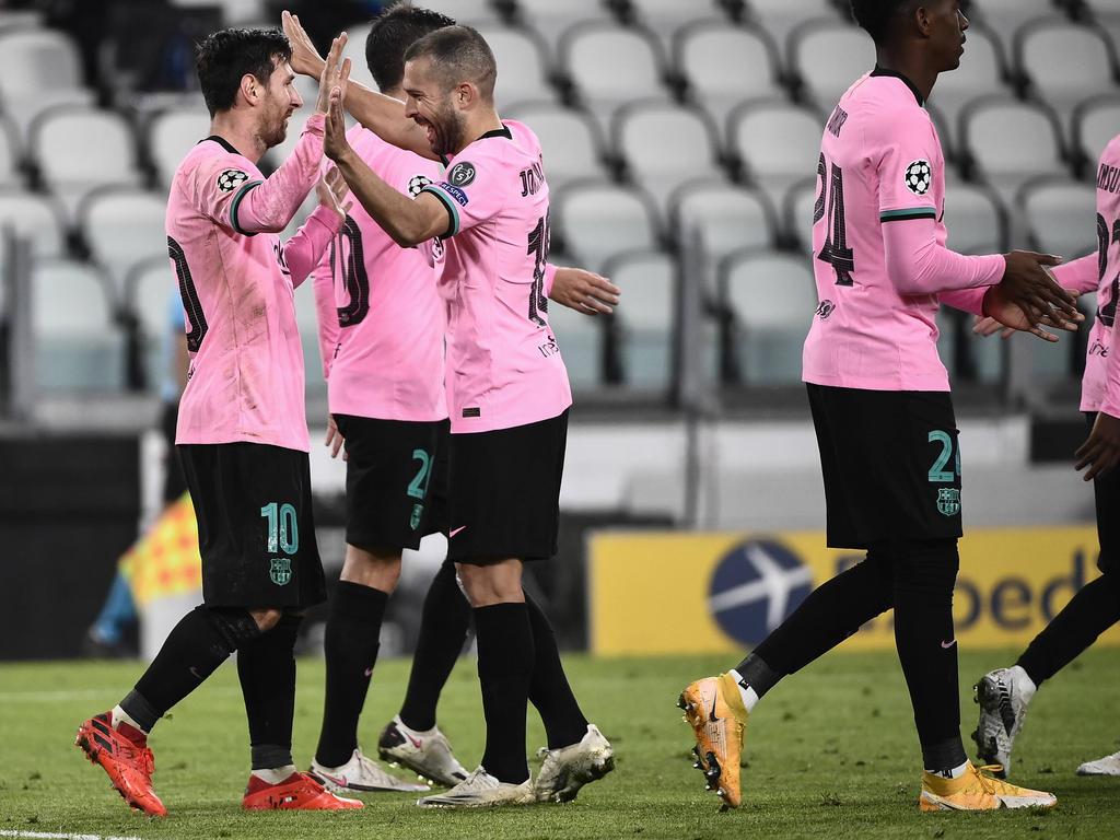 Messi und Co. bejubeln den Sieg über Juventus Turin