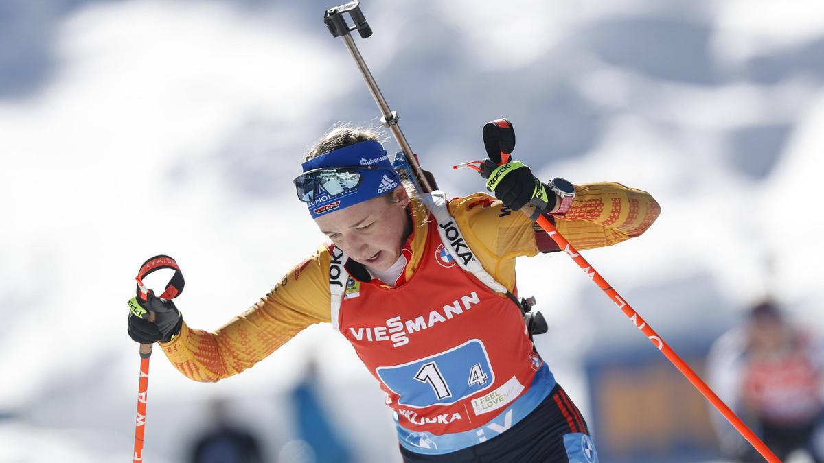 """Franziska Preuß nimmt an """"Klima Challenge"""" des Biathlon-Weltverbandes teil"""