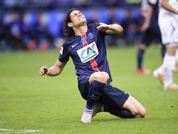Edinson Cavani celebra su tanto que se convertiría en el título de Copa. (Foto: Imago)