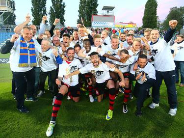Der SKN St. Pölten jubelt über den Bundesliga-Aufstieg