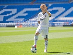 Modric el día de su presentación en agosto de 2012. (Foto: Getty)