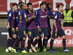 Lenglet salvó al Barcelona en León. (Foto: Getty)