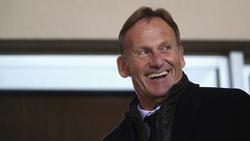 BVB-Boss Hans-Joachim Watzke sieht nicht unbedingt Handlungsbedarf im Sturm