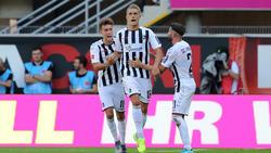 Nils Petersen brachte den SC Freiburg in Paderborn auf Kurs