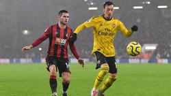 Mesut Özil wirkte in Bournemouth 75 Minuten lang mit