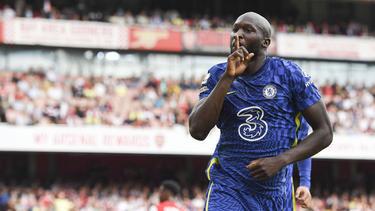 Romelu Lukaku jubelt über seinen Treffer für den FC Chelsea