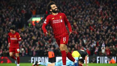 Mohamed Salah schnürte bei Liverpools Heimsieg einen Doppelpack