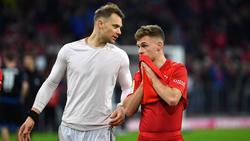 Manuel Neuer (li.) zeigte ungewohnte Unsicherheiten