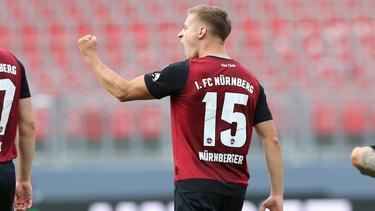 Fabian Nürnberger erzielte beide Tore für den 1. FC Nürnberg