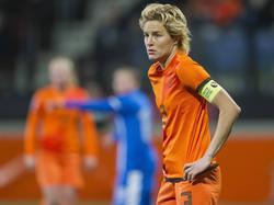 Daphne Koster is aanvoerder van het Nederlandse vrouwenelftal.