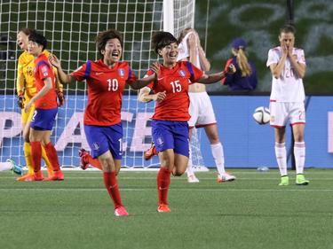 Cho Sohyun, en el 53, y Kim Sooyun, al final (78), clasificaron a las coreanas a la siguiente fase. (Foto: Getty)