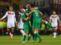 Un tanto de Shane Long a veinte minutos del final dio la victoria a Irlanda. (Foto: Getty)