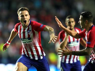 Saúl Ñíguez und Co. jubeln über den ersten internationalen Titel der neuen Saison. © Getty Images/A. Hassenstein