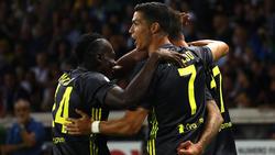Cristiano Ronaldo konnte gegen Parma trotz anhaltender Torflaute jubeln