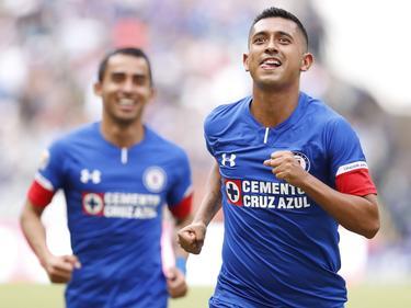 Elías Hernández celebra su gol ante Veracruz. (Foto: Imago)