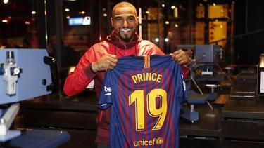 Kevin-Prince Boateng ist beim FC Barcelona vorgestellt worden (Bildquelle: twitter.com/fcbarcelona)