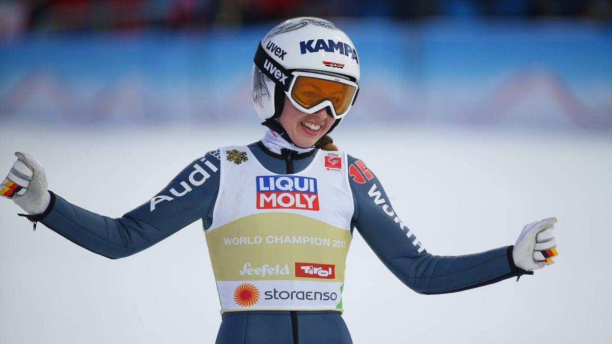Juliane Seyfarth war in der Qualifikation am Mittwoch die beste DSV-Skispringerin